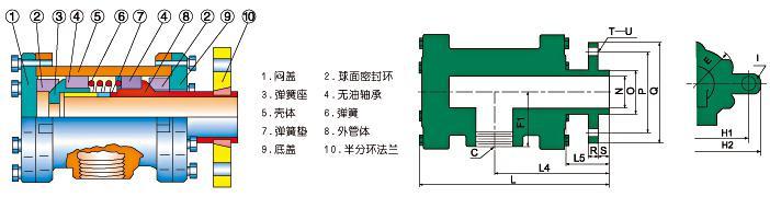 QD型旋转接头65-100结构图