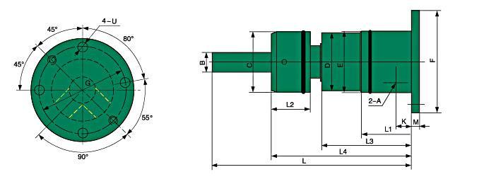 钢厂专用旋转接头内部结构图
